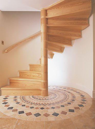 Scala a chiocciola / con gradini in legno W/48/1 Cast Spiral Stairs