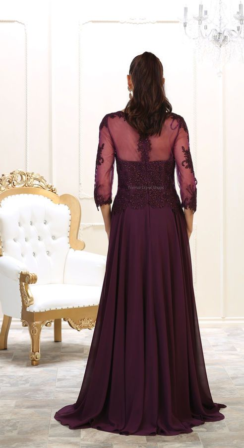 f8f7b9005a MOTHER of THE BRIDE 3/4 SLEEVE FORMAL EVENING GOWN DESIGNER CHURCH LONG  DRESSES #FORMAL#EVENING#SLEEVE