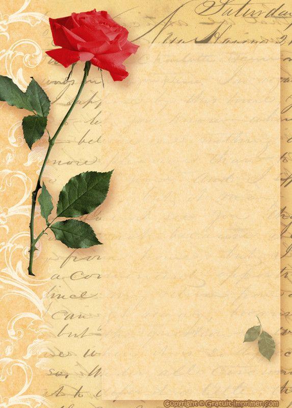 papier à lettre ancien a imprimer gratuitement