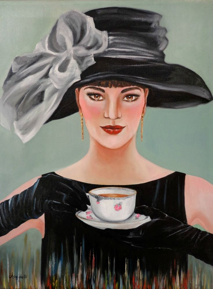 Tea time, Oil painting by Anna Rita Angiolelli | Artfinder