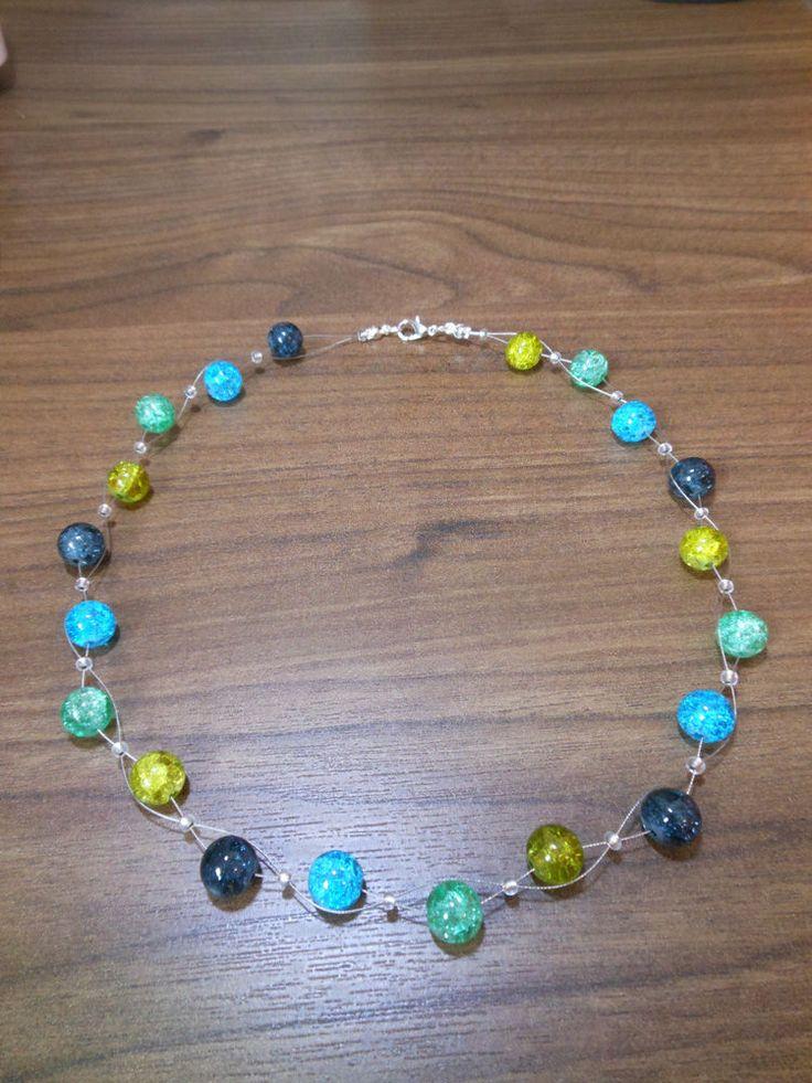 Neu unikat grün blau olive Glas kette Halskette Collier Glasperlen Perlen  in Uhren & Schmuck, Modeschmuck, Halsketten & Anhänger | eBay!
