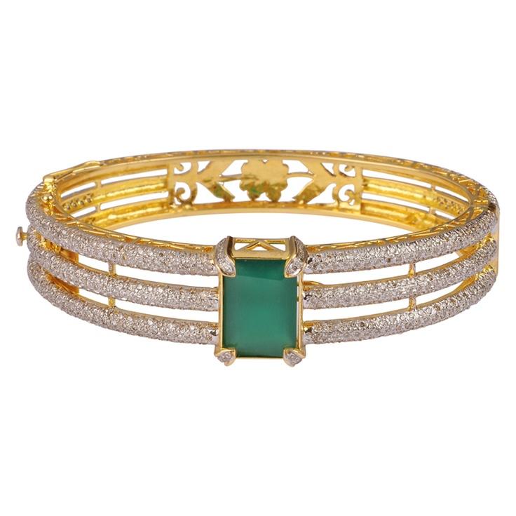 Diamond Bracelet With Emerald