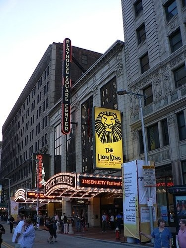 Playhouse Square, Cleveland.  I worked at Pan Am and KLM ticket offices on Playhouse Square.  This was the best location for shopping and dining back in the 60s.