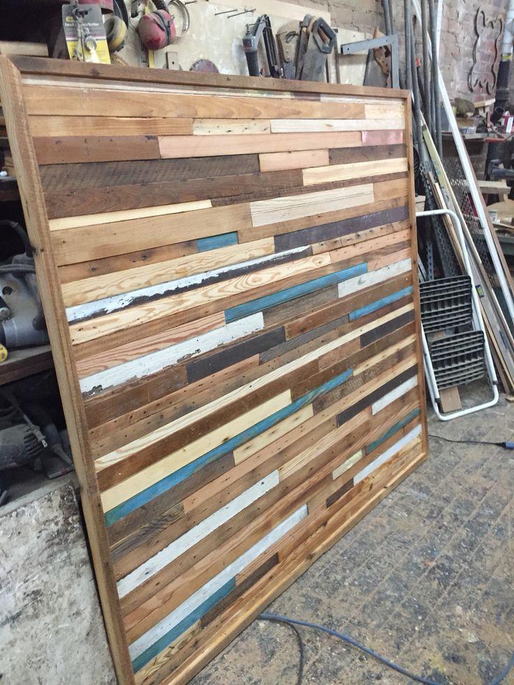 Plank wall for bed backboard