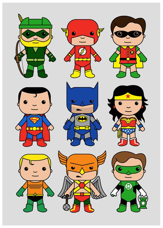 Super Hero wall art DC nursery Superman Batman Flash by MiniHeroes
