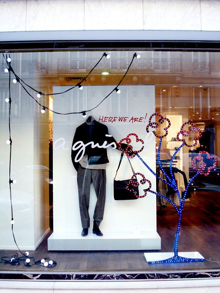 Agnes B Window Display by Elemental Design.