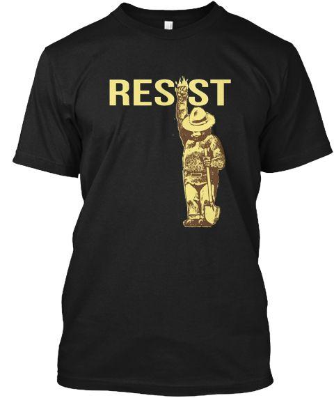 National Park Resist T Shirt Black T-Shirt Front