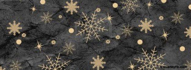 Vintage snowflakes Facebook Cover
