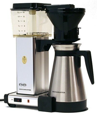 Technivorm Moccamaster (KBT741) - Polished Silver by Technivorm. $299.00. If you are into brewing and enjoying the very best drip coffee possible, the Technivorm Moccamaster KBT741 is the machine for you. It is one of the few auto-drip coffee makers certified by the Specialty Coffee Association of America to brew at optimal temperatures. The KBT741 also has a thermal container to keep brewed coffee at the optimal temperature. The Technivorm is superbly constructed in Holl...