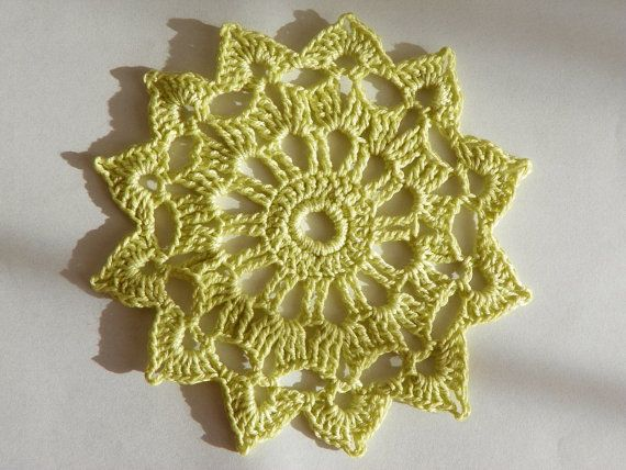 Hey, I found this really awesome Etsy listing at https://www.etsy.com/listing/179738989/1-crocheted-coaster-doily-light-green