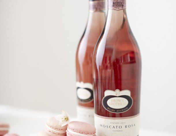 <p>These gorgeous Moscato Rosa macarons are just the treat for an afternoon tea with friends or a sweet dessert to top off your dinner.  Enjoy them with the rest of the Moscato Rosa lightly chilled.</p>