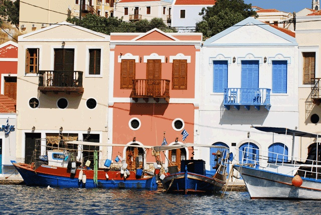 Colourful Houses #Kasterlorizo Island, #Greece (Also #Castelorizo) the easternmost #Greek Island Source: Official Tourism Site http://www.megisti.gr