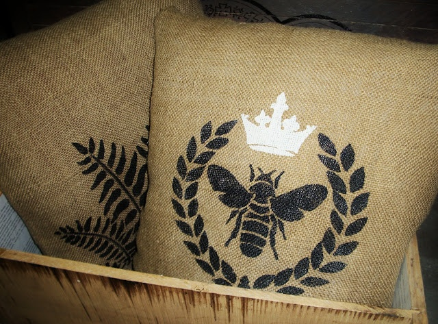 Fay Grayson Home: Burlap Pillows