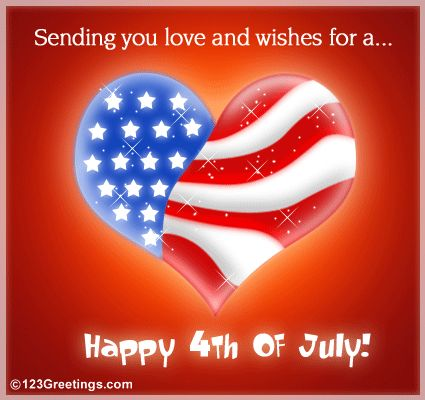 4th of July Pictures Free | Send across love and wishes on Fourth of July through this ecard.
