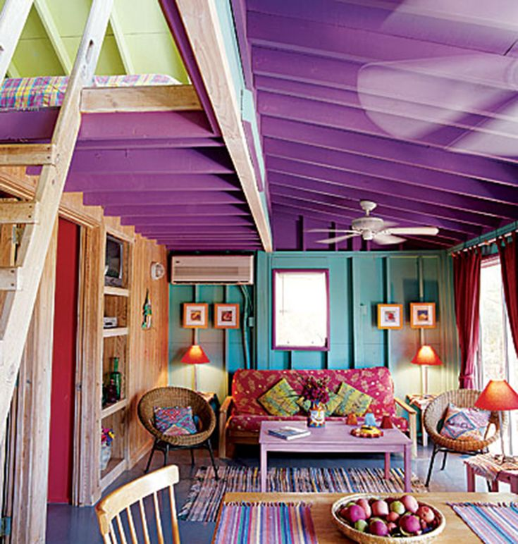 Colorful Room Decor: Caribbean Home Interior Decorating Ideas