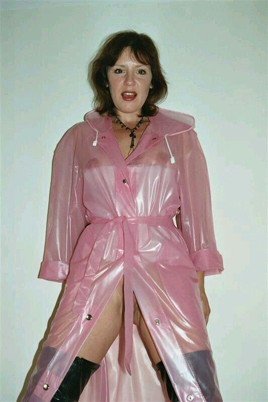 Pink plastic mack | Raincoats PVC & Latex