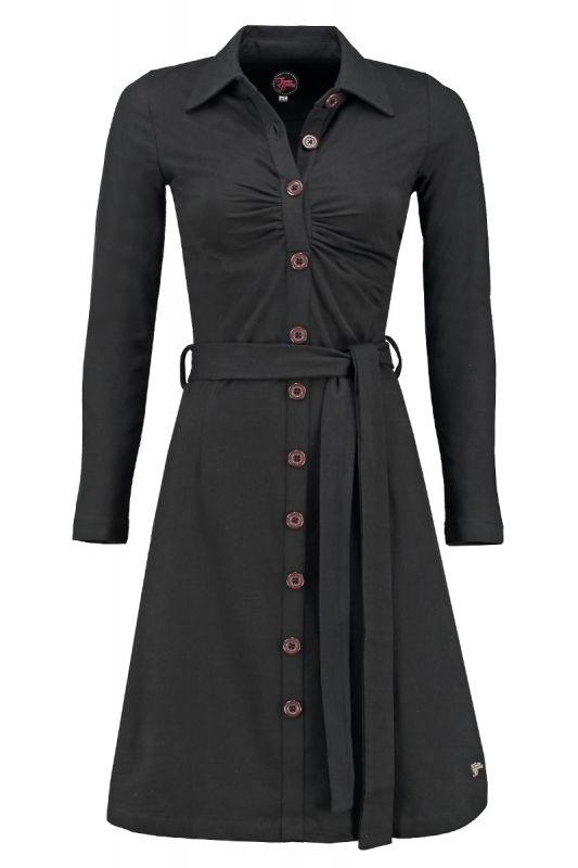 Tante Betsy Button dress Black