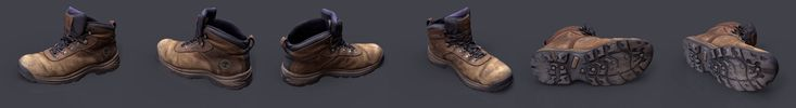 ArtStation - My Boot 3D scanned, Daniel Cahill