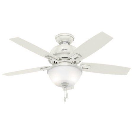 Trend Hunter in Donegan Fresh White Ceiling Fan with Light
