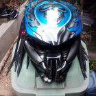 New Custom Blue Airbrush Pattern Predator Motorcycle