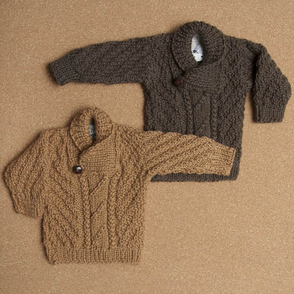 Hand-knitted jumper with buttoned collar Fanny & Alexander
