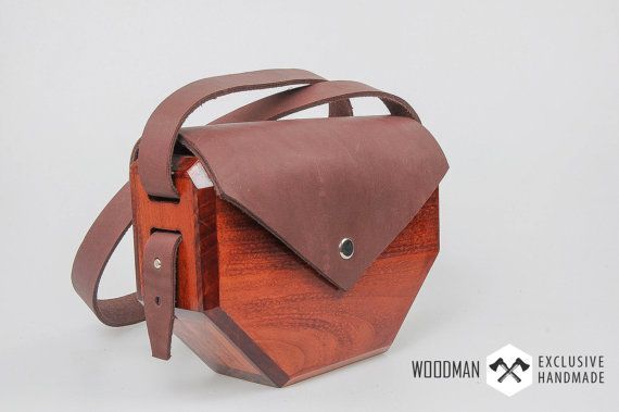 Wooden clutch Wooden bag Messenger bag Unique by WoodmanShop