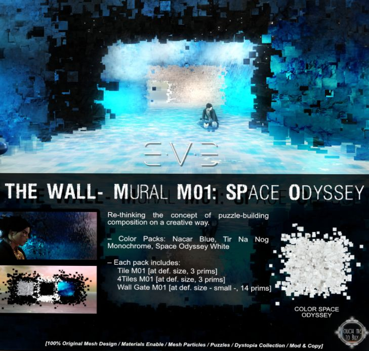 ~ The Wall - Mural MO1: Space Odyssey by E.V.E.~  Located on Dawn's Promise {Sponsored by The Looking Glass}  http://maps.secondlife.com/secondlife/Dawns%20Promise/164/45/46