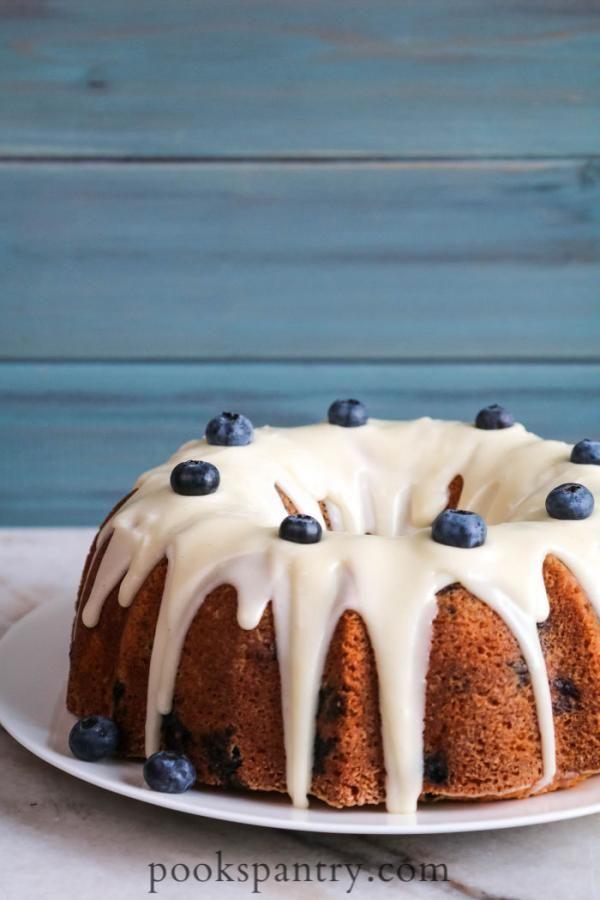 Blueberry Bundt Cake With Buttermilk And Vanilla Bean Glaze Recipe In 2020 Blueberry Bundt Cake Christmas Bundt Cake Cake