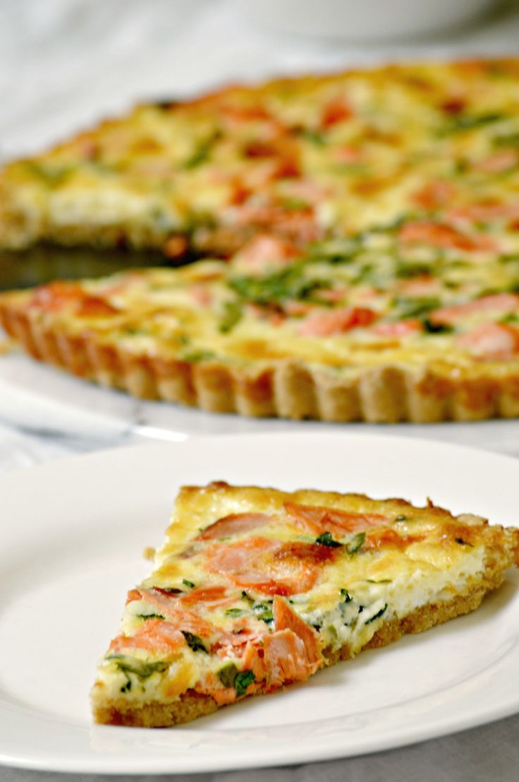 Use leftover salmon to create an entire meal with this Salmon Quiche Recipe! -- from FrugalMomEh.com
