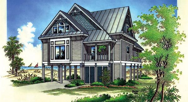 63 best cottages floor plans images on pinterest beach for Victorian beach house designs