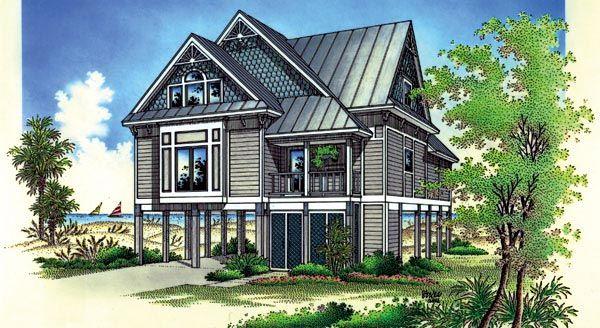 63 best cottages floor plans images on pinterest beach for Victorian beach house plans