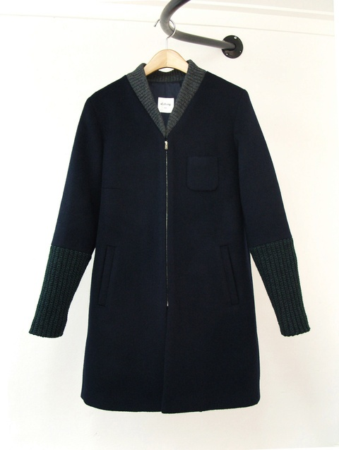 al,thing - Fabric mix coat 2