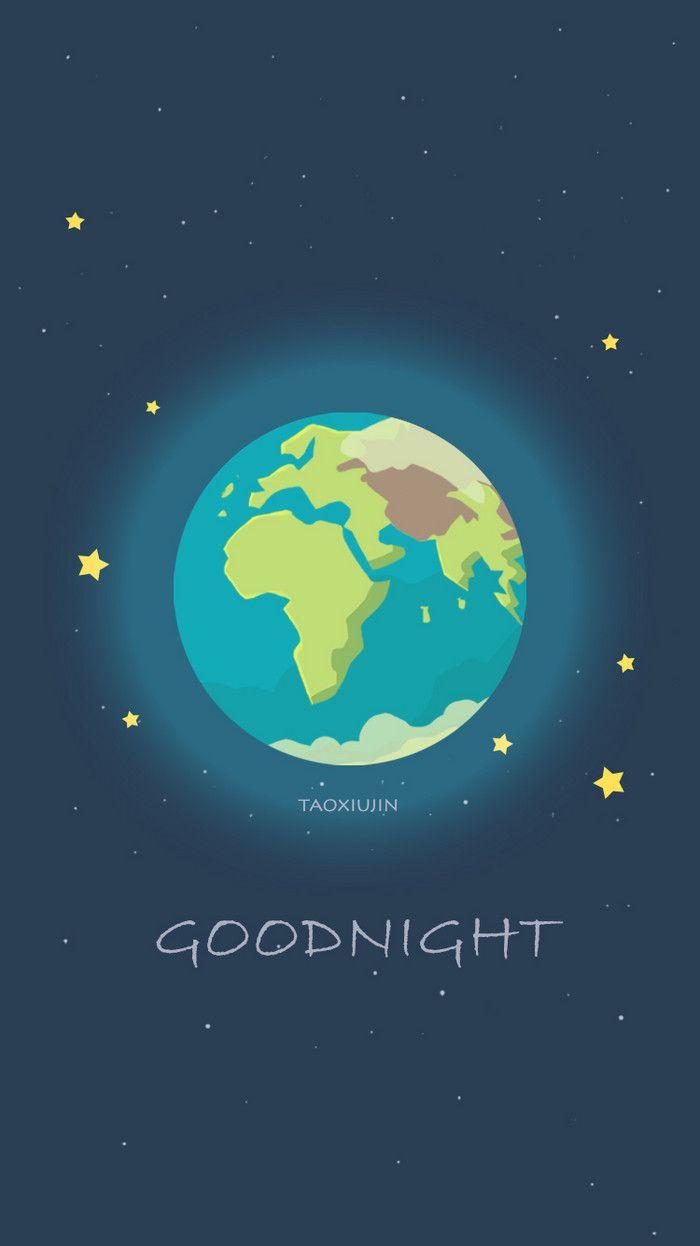 画了两个半球,早安晚安~-taoxiujin__涂鸦王国插画