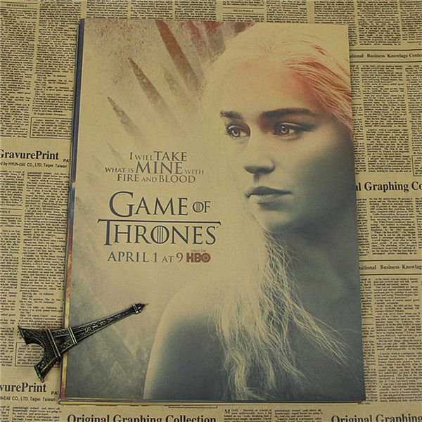 42*30cm Vintage Paper Retro anime Game of Thrones