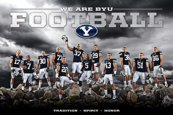 """We are BYU #poster #football  BYU is Loved at www.MormonFavorites.com  - MormonFavorites.com  """"I cannot believe how many LDS resources I found... It's about time someone thought of this!""""   - MormonFavorites.com"""