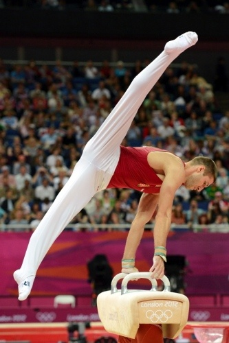 Krisztian Berki of Hungary won the gold medal in Sunday's men's pommel horse final, while Great Britain's Louis Smith and Matt Whitlock took home the silver and bronze.