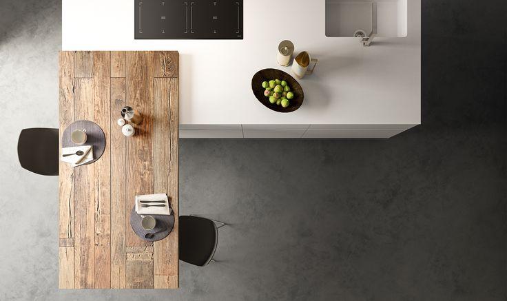 Modello Logica Soho di Alf Da Frè #cucina #legno #contemporanea #arredamento #madeinitaly #food