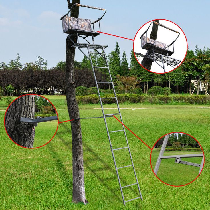 20-days presell 16' Two Man Hunting Ladder Stand Tree Stand Harness Seat Cushion