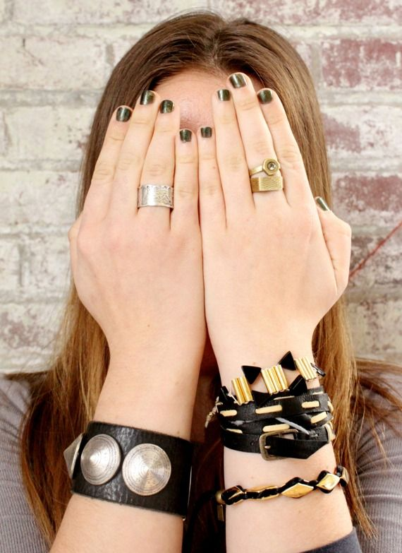 Show off your bracelets and rings.