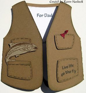 Father's Day Card Love the vest pattern form Raisin Boat Stamps