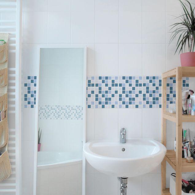 Fliesen Bordure Mosaikfliesen Blau Grau 15x20 Fliesensticker Set Fliesenstreichen Fliesen Bordure Mosaikfliesen Blau Grau 15x20 Decor Home Decor Home