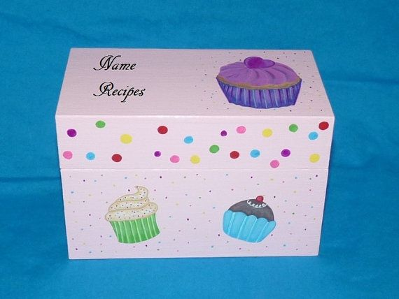 Decorative Recipe Boxes Interesting 117 Best Hand Painted Recipe Boxes Images On Pinterest  Recipe Design Inspiration