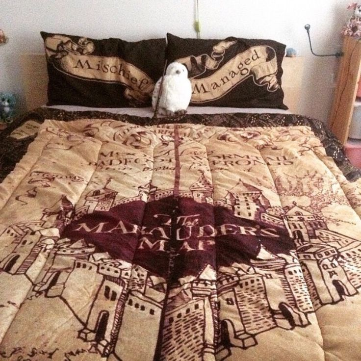 Marauders map bedspread i need this so badly harry - Drap housse king size ...