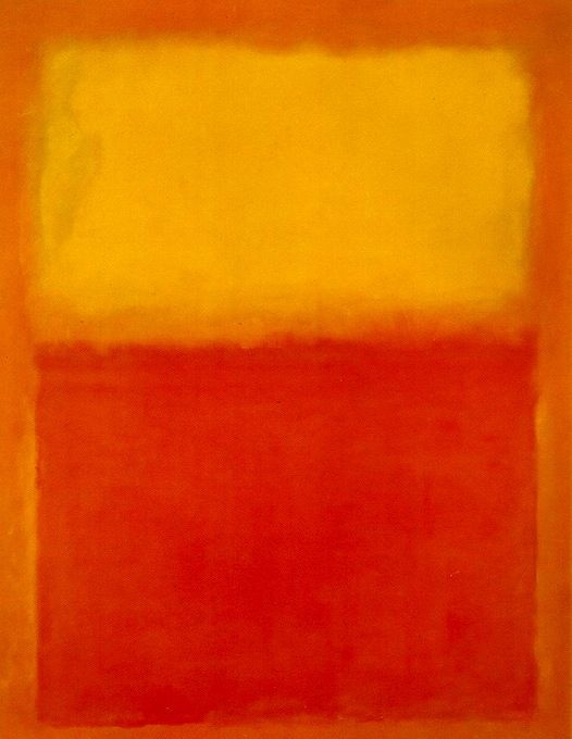 Mark Rothko - Arancione e giallo - 1956