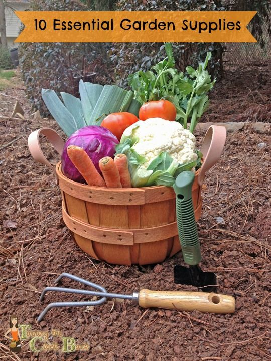 Come see what is on my top 10 list of must have garden supplies for a successful #gardening adventure! http://www.turningclockback.com/2013/03/essential-gardening-supplies.html