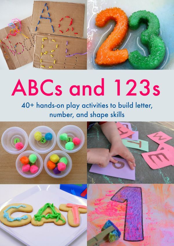 Hands-on activities for children learning letters and numbers