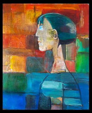 "Saatchi Art Artist Rudina Pema; Painting, ""PROFILE"" #art"