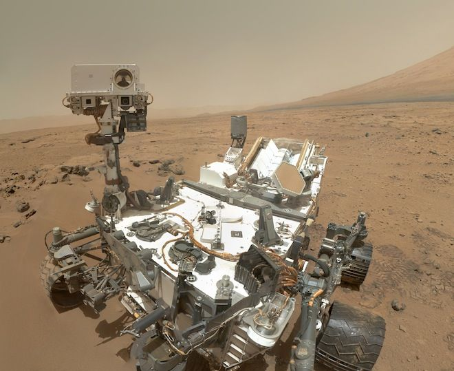 Curiosity rover on Mars. Lots of speculation abounds on what NASA is attempting to keep secret while it verifies it's data -- Some think it will be evidence of some life via organic compounds.