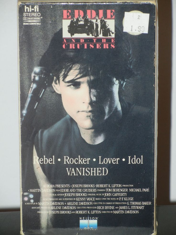 Eddie and the Cruiser VHS Music Movie Ellen Barkin Michael Pare Tom Berenger On the Dark John Cafferty & The Beaver Brown Band by GailsPopCycle on Etsy