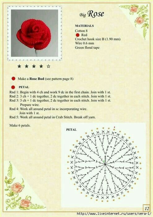 The Book of Crochet Flowers - Rose